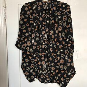 Tops - Leopard Print Kimono